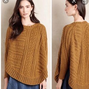 Anthropologie Angel of the North Cable Sweater